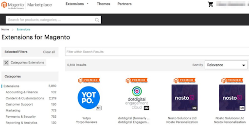 Magento Marketplace for Extension