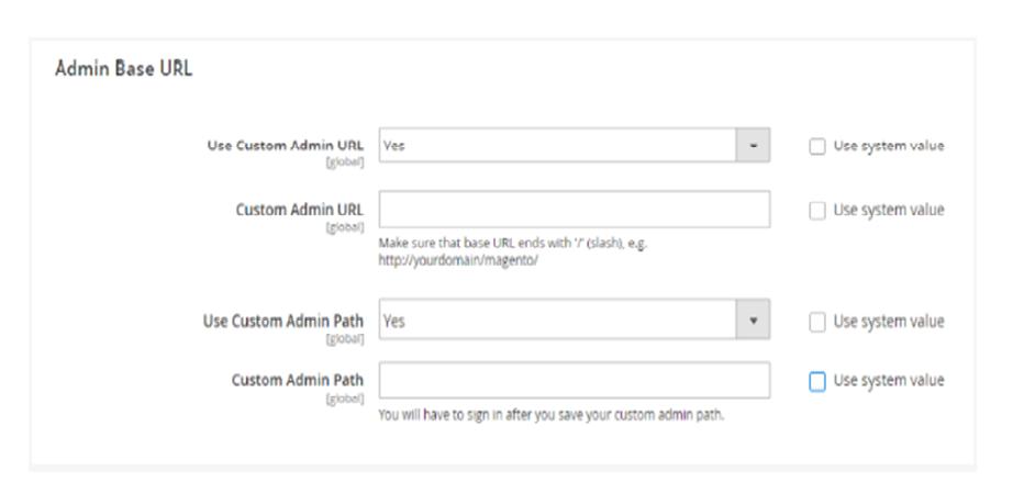 Build the Custom Admin Path