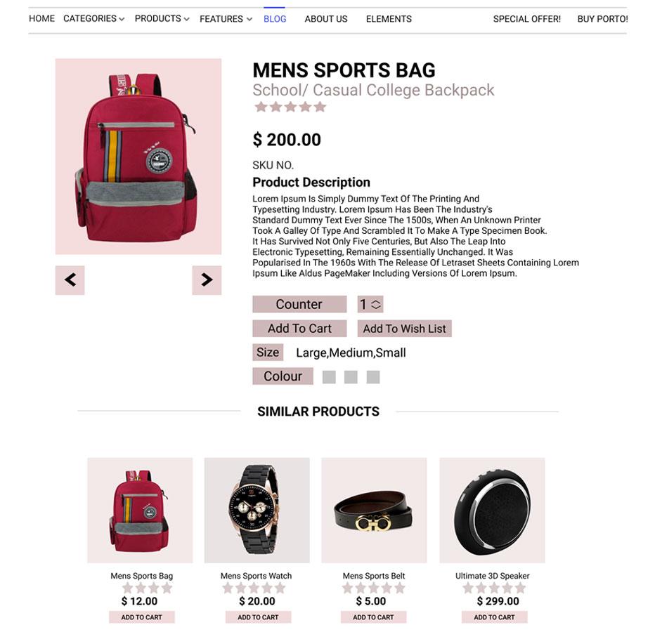product page design -Website Design Trends