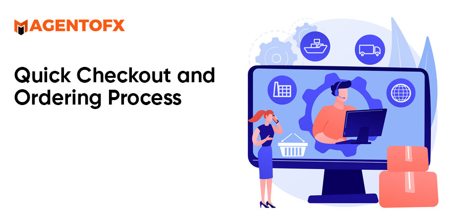 quick checkout & ordering process