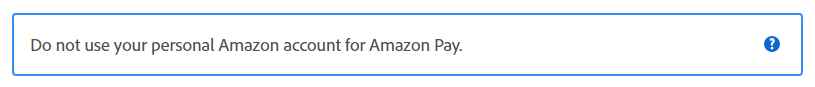 warning -don't use personal amazon account